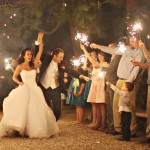 Wedding Sparkler Sendoff photo by Photography by Charise Proctor