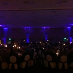Padre Serra Wedding Reception with Wireless LED Uplighting from Elegant Event Entertainment