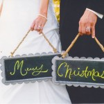 Bride & Groom Merry Christmas Photo By Kimberlee Miller Photography