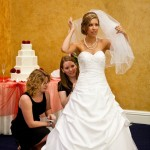 bridal gown bustle 2
